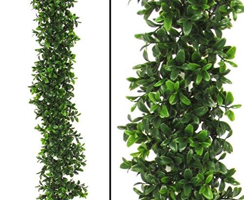 Künstliche Buchsgirlande mit 486 UV geschützte Blätter 180cm - künstliche Girlanden, Kunstgirlanden Girlande aus Kunststoff Dekogirlanden