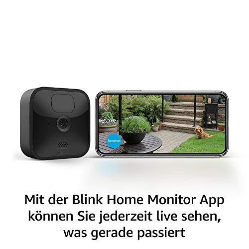 Die neue Blink Outdoor – kabellose, witterungsbeständige HD-Sicherheitskamera mit zwei Jahren Batterielaufzeit und Bewegungserfassung | Zusatzkamera für bestehende Blink-System-Kunden