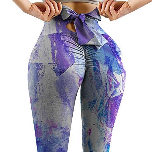 Mujer Pantalones De Yoga Bowknot Tallas Grandes Leggings De Entrenamiento SóLidos para Mujer Deportes De Fitness Correr Yoga Pantalones Deportivos Largos Leggings Push Up Mallas