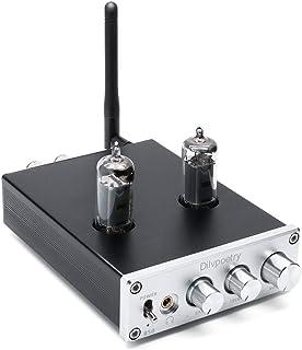 Dilvpoetry R50 6J4 Headphone Tube Amplifier 50wX50w Treble Bass Desktop Power Bluetooth Preamp(Silver)