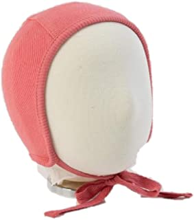 Unisex Baby Bonnet Soft Cotton Pilot Hat Cap for Newborns, Infants and Toddlers (6 Months, Berry Pink)