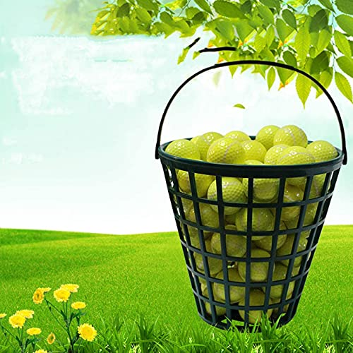 Canasta De Pelota De Golf Cubo De Plástico Para Pelotas De Golf Contenedor De Pelota De Golf Con Asa - Canasta De Golf Grande Capacidad: 25 Bolas, 50 Bolas, 75 Bolas, 100 Bolas, 150 Bolas,50 balls