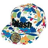 ZIP CORPORATION 帽子 キャップ メンズ レディース おしゃれ ロゴ 平つば B系 キャップ Splash・WH (スナップバック調節 ゴールド ステッカー付き) 82921