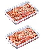 2 recipientes de plástico para almacenamiento de alimentos,...