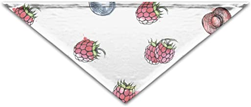 """Grebsw Berries and Fruits 1 Soft Washable Pet Triangle, 11.8"""" 25.6"""", Suitable for Puppies, Kittens, Rabbits"""