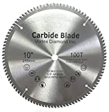 VORTEX DIAMOND VAB 10 Inch 100 Teeth TCT Non-Ferrous Metal Circular Saw Blade with 5/8' Arbor (10 Inch 100 Teeth)