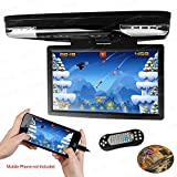 XTRONS 15.6 Inch 1080P Video HD Digital Widescreen Car Overhead Coach Caravan Roof Flip Down DVD...