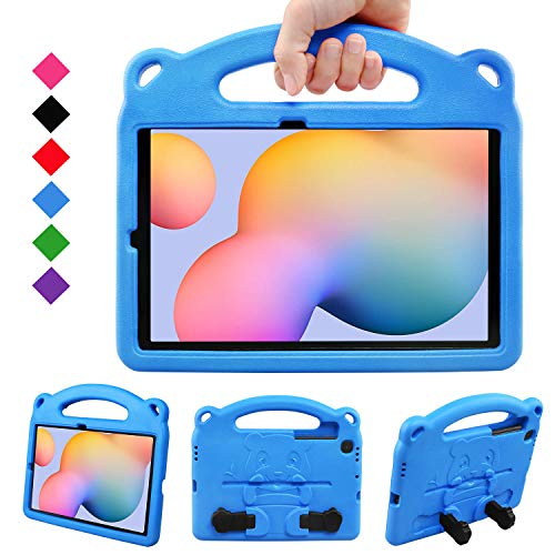 BelleStyle Kids Case for Galaxy Tab S6 Lite 10.4 2020, Shockproof Protective Case Kids Friendly Handle Stand Panda Cover for Samsung Galaxy Tab S6 Lite 10.4 Inch SM-P610/P615 2020 Released, Blue