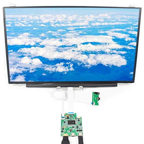 LCDBOARD Tragbarer Monitor - 15,6-Zoll-Full-HD-IPS-Bildschirm 1920 x 1080 mit HDMI-Typ-C-Anschluss, ultradünner Gaming-Monitor, schwarz, B156HAN01.2
