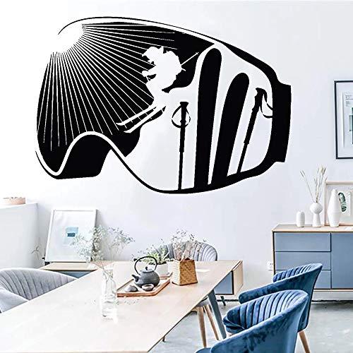 HGFDHG Gafas Creativas Deportes Pegatinas de Pared Deportes de Invierno esquí Vinilo Tatuajes de Pared decoración del hogar Pegatinas para Sala de Estar