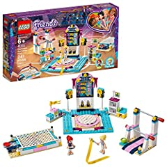 Build this toy gymnastics set using the easy-to-follow instructions to experience the excitement and tension of competing in the Heartlake City Games! This building set for kids includes 2 mini-dolls: LEGO Friends Stephanie and LEGO Friends Mia, as w...