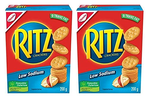 Ritz Low Sodium Crackers 0 Trans Fat 200g/7.05oz, 2-Pack {Imported from Canada}