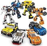 SQHGFFF Robot Educational Learning Building Bricks Toy Cars Set Vehículos Regalos para niños Boys and Girls Apretar y Compatible con Todas Las Marcas Principales Modelo Building