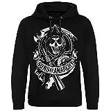 Sons of Anarchy Licenciado Oficialmente Scroll Reaper Sudadera con Capucha Epic (Negro), Small