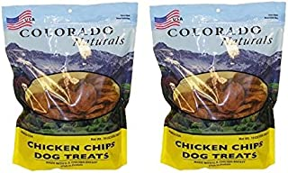 (2 Pack) Colorado Naturals Chicken Chips Dog Treats 16 oz. Chicken