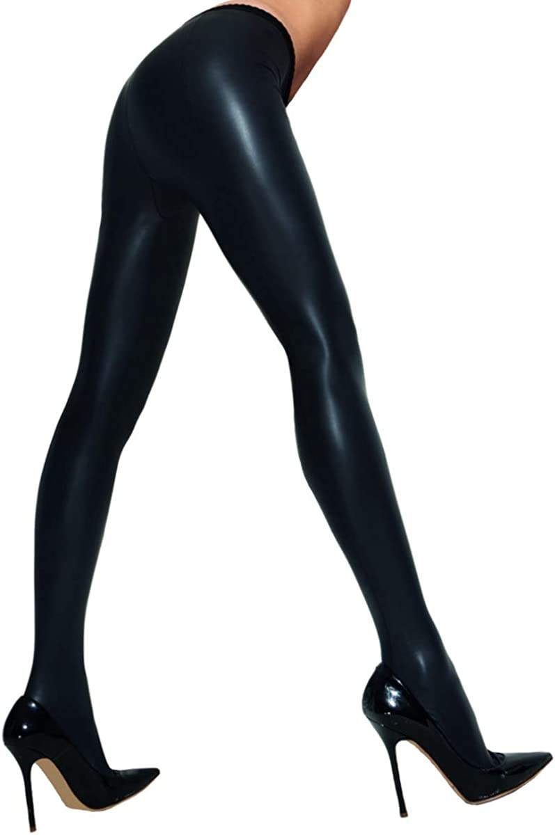 Trasparenze Women's Allen Leather Look Tights 2 Pair Pack with Shaped Foot - Polyamide & Elastane