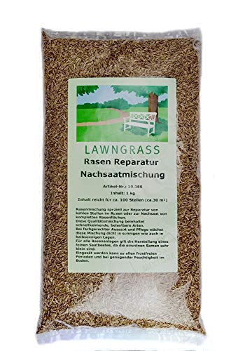 1 kg Rasensaat Reparaturrasen Nachsaat Rasennachsaat Nachsaatmischung keimt schnell Qualitätsrasen
