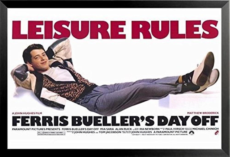 Buyartforless Framed Ferris Bueller's Day Off - Leisure Rules (Matthew Broderick) 24x36 Movie Art Print Poster