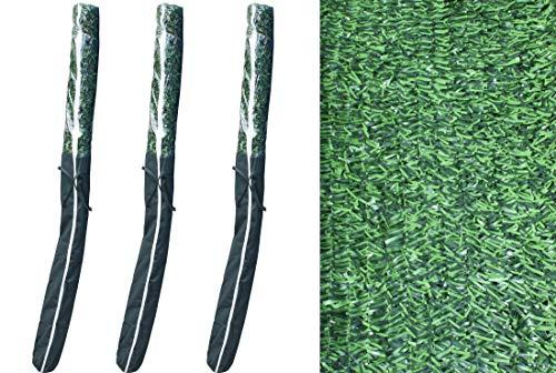 Pal Ferretería Industrial Rollo de seto Artificial ignífugo Verde de ocultación 3x2m (3- Rollos seto 3x2m)