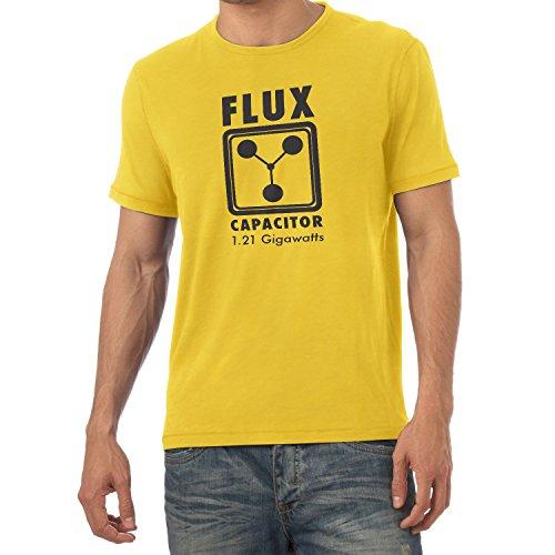 Texlab - Flux Capacitor - Herren T-Shirt, Größe M, gelb