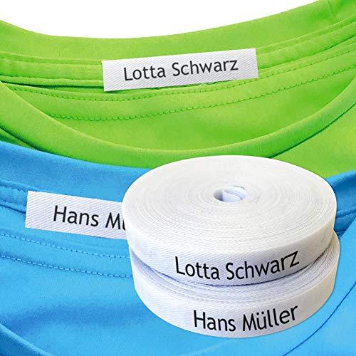 Namensaufkleber Kleidung, Personalisierbare Bügeletiketten, Kleidung Namensetiketten Thermo-Klebstoff. Etiketten für Eisen. Namensetiketten kinder, Etiketten Schule. (80% Baumwolle, 20% Polyester) (100 stück)