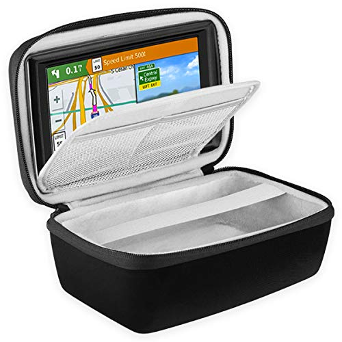 """BOVKE Hard Carrying Case for 5-Inch GPS Navigator Fit Garmin Nuvi 55LM 2557LMT 52LM 42LM tomtom Mio 4.3-5"""" Accessories Travel Bag, Black -  A1A23M2"""