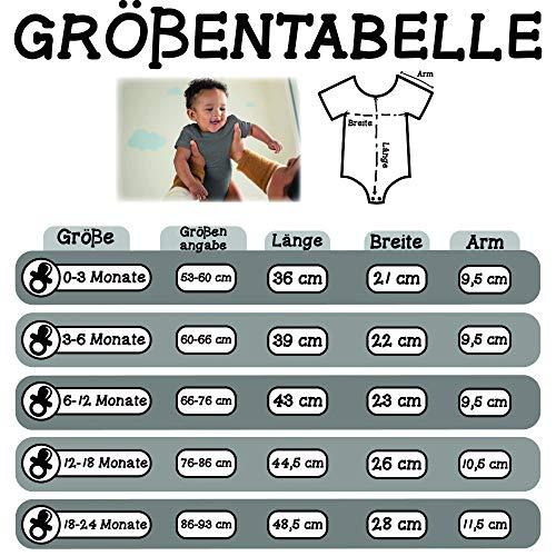 Sport Baby - Profi Rennradfahrer Rennrad - 12/18 Monate - Grau meliert - Geschenk - BZ10 - Baby Body Kurzarm für Jungen und Mädchen
