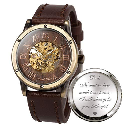 Relojes Para Hombre Grabados, ManChDa Reloj Para Hombres, Regalos Personalizados Reloj Personalizado Para Papá Cumpleaños Aniversario De Bodas Día Del Padre Navidad Familia Amigos Regalo Personalizado
