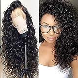 Perruque Femme Naturelle Malaisienne Lace Front Cheveux Humain Water Wave VIPbeauty Cheveux Vierge Couleur Naturel Pour Femme -14 Pouces