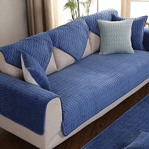 FSYGZJ Funda de sofá de Felpa, Funda de sofá Acolchada Gruesa Funda de sofá seccional Protección de sofá Antideslizante Protección de Muebles Antimanchas para Mascotas, Vendido por 1 Pieza-i 70x210