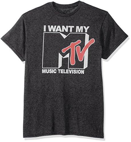 Nickelodeon Men's Want Logo T-Shirt, Premium Charcoal Heather, 4XL