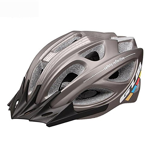 MIAO Fahrradhelm - Integral PC Shell 18 Vents Mountainbike / Rennrad Fahrradhelme , grey