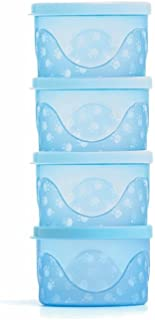 Kit de Potes Infantis, Adoleta Bebê, Azul Translúcido