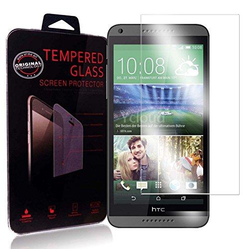 Ycloud Panzerglas Folie Schutzfolie Bildschirmschutzfolie für HTC Desire 816 screen protector mit Festigkeitgrad 9H, 0,26mm Ultra-Dünn, Abger&ete Kanten