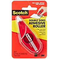 Scotch Double Sided Adhesive Roller.27 Inches x 26 Feet (6061)
