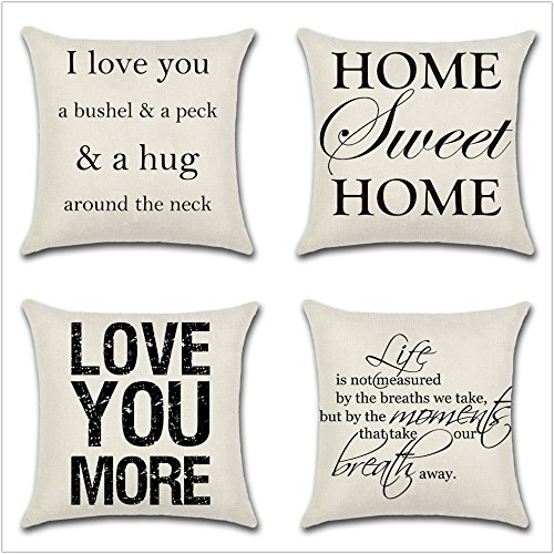 Decorative Pillows with Sayings Amazon.com