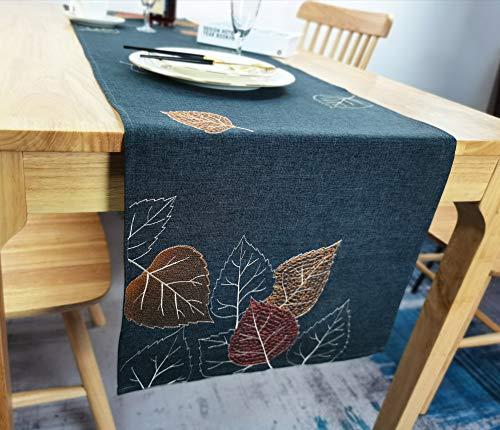 Extra Something ® - Camino de mesa premium otoñal | Mantel de alta calidad de 40 x 150 cm | Mantel otoñal de tela de calidad para el salón | Mantel con protección antimanchas y lavable