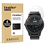 iVoler [4 Pack] Pellicola Vetro Temperato per Ticwatch 2 / Ticwatch E2 Smartwatch [Garanzia a Vita], Pellicola Protettiva, Protezione per Scherm