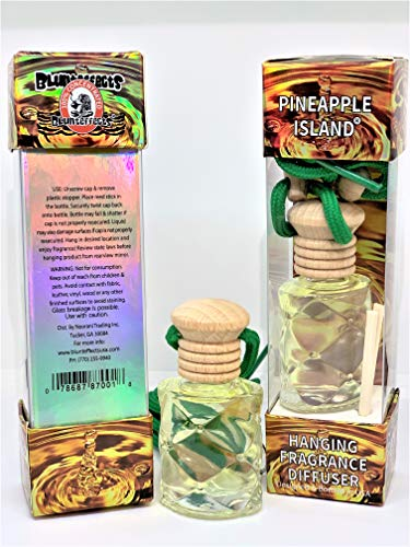 Blunteffects Blunt effects 100% concentrated Hanging Fragrance Diffuser Home and Car (Choose the scent) (Pineapple Island)