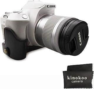 kinokoo Kamera Fall Hälfte Fall PU Material Cover für Canon EOS 200D/EOS Rebel SL2, EOS 250D/Rebel SL3 Kameratasche (schwarz)