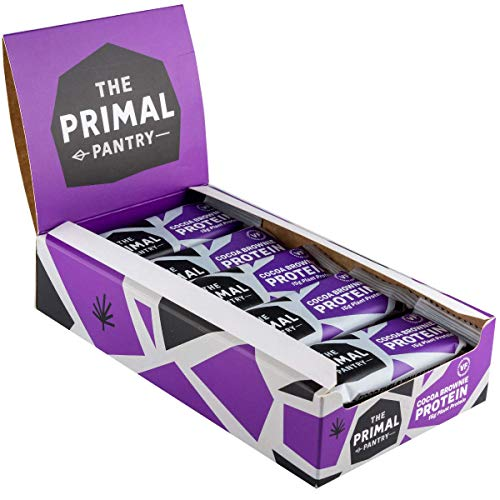 The Primal Pantry Protein Bars - Cocoa Brownie Protein Bars - 15 x 55g - Dairy Free, Gluten Free, Soya Free, Vegan Protein, Paleo, 15g of Plant Protein per bar, Hemp Protein- Qty 15