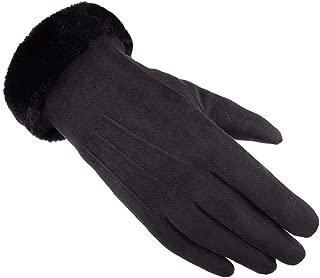 SGJFZD Women Winter Gloves Outdoor Windproof Touch Screen Texting Driving Elegant Gloves Windbreak Gloves (Color : Black, Size : OneSize)