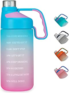EAILGORL Water Bottles with Motivational Time Marker &...