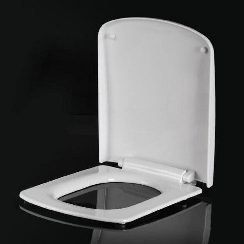 YWEIWEI Toilettendeckel Vintage Absteigend Thick Square Sitzbezug Sydney Dansheng Toilettendeckel Toilettendeckel Weiß-42-46  36cm