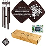 READY TO GIFT: These windchimes in memory of a loved one come beautifully presented and include: high-quality wind chimes and a touching sympathy message (4x6, front/back card) packaged in an elegant gift box (12x5x2-inch). SOOTHING, RELAXING TONES: ...