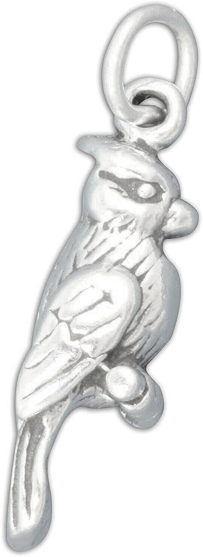 Blue Jay Cardinal Bird 3D 925 Silver Denver Mall Solid MADE Sterling Albuquerque Mall Charm I