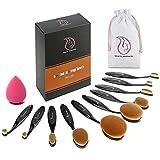 Start Makers pennelli ovali make up - 10pcs / Set Spazzolino stile Curve pennelli trucco - Set...