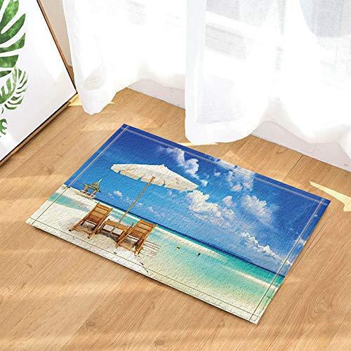 /N Tumbonas de Playa Cortina de Ducha Baño Tela Impermeable y 12 Ganchos 180 * 180 cm