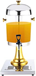 Juice Ding 8L Commercial Fruit Drinks Vending Machine Anti-scald Faucet Cold Drink Ice Tea Beverage Machine Cold Drink Juice (Color : Gold, Size : 26x35x58cm)