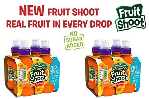 Robinsons Fruit Shoot Low Sugar Orange, 8 x 200 ml